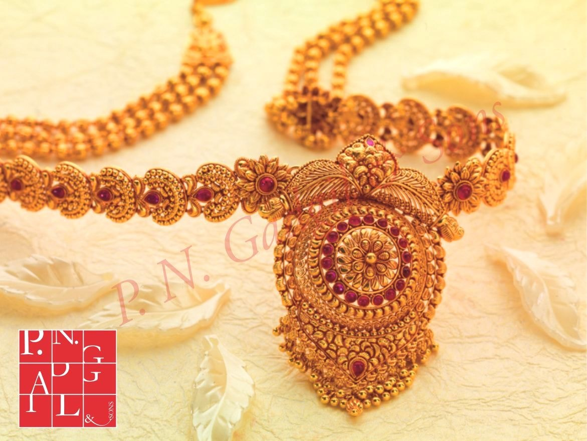 Temple jewellery Necklace by PNG & Sons